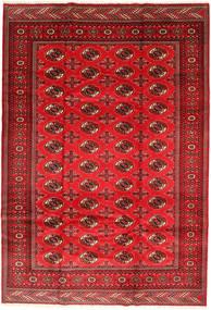 Turkaman Teppich 201X293 Echter Orientalischer Handgeknüpfter Rost/Rot/Dunkelrot/Rot (Wolle, Persien/Iran)