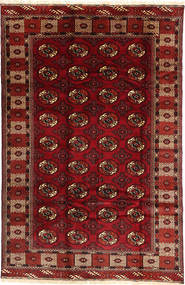 Turkaman Teppich 187X290 Echter Orientalischer Handgeknüpfter Dunkelrot/Dunkelbraun (Wolle, Persien/Iran)