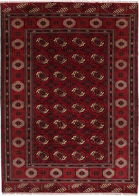 Turkaman Teppich 208X287 Echter Orientalischer Handgeknüpfter Dunkelrot/Dunkelbraun (Wolle, Persien/Iran)