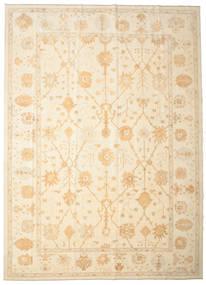 Usak Teppich 334X463 Echter Orientalischer Handgeknüpfter Beige/Gelb Großer (Wolle, Türkei)