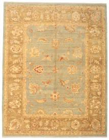 Usak Teppich 308X393 Echter Orientalischer Handgeknüpfter Dunkel Beige/Hellbraun Großer (Wolle, Türkei)