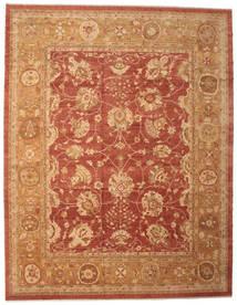 Usak Teppich 382X493 Echter Orientalischer Handgeknüpfter Hellbraun/Rot Großer (Wolle, Türkei)