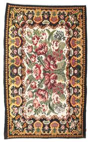 Kelim Rosen Moldavia Teppich  189X307 Echter Orientalischer Handgewebter Dunkelgrau (Wolle, Moldawien)