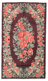 Kelim Rosen Moldavia Teppich  164X280 Echter Orientalischer Handgewebter Dunkelbraun/Dunkellila (Wolle, Moldawien)