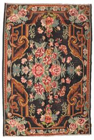 Kelim Rosen Moldavia Teppich 184X277 Echter Orientalischer Handgewebter Schwartz/Dunkelgrau (Wolle, Moldawien)