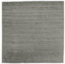 Handloom Fringes - Dunkelgrau Teppich  300X300 Moderner Quadratisch Dunkelgrau Großer (Wolle, Indien)