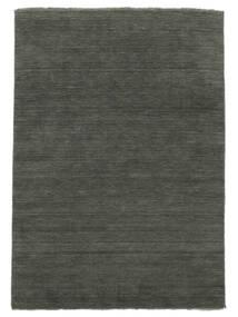 Handloom Fringes - Dunkelgrau Teppich  200X300 Moderner Dunkelgrau (Wolle, Indien)
