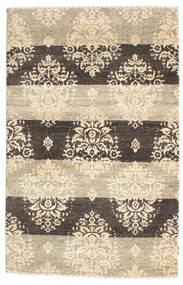 Gabbeh Loribaft Teppich  120X185 Echter Moderner Handgeknüpfter Beige/Hellgrau (Wolle, Indien)