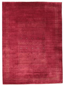Gabbeh Loribaft Teppich 203X278 Echter Moderner Handgeknüpfter Rot/Dunkelrot (Wolle, Indien)