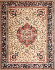 Täbriz Patina Teppich  305X390 Echter Orientalischer Handgeknüpfter Hellbraun/Beige Großer (Wolle, Persien/Iran)