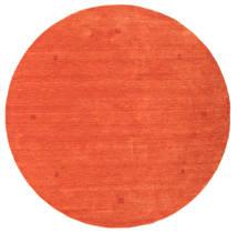 Loribaf Loom Teppich Ø 202 Echter Moderner Handgeknüpfter Rund Orange/Rot (Wolle, Indien)