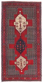 Senneh Patina Teppich  145X299 Echter Orientalischer Handgeknüpfter Dunkelbraun/Rot (Wolle, Persien/Iran)