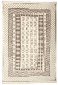 Sandor Teppich  140X200 Echter Moderner Handgeknüpfter Hellgrau/Beige (Wolle, Indien)