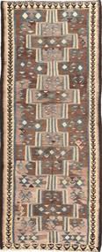 Kelim Fars Teppich  135X335 Echter Orientalischer Handgewebter Läufer (Wolle, Persien/Iran)