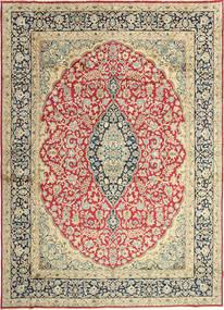 Kerman Teppich  272X380 Echter Orientalischer Handgeknüpfter Dunkel Beige/Beige Großer (Wolle, Persien/Iran)