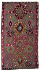 Kelim Halbantik Türkei Teppich  186X336 Echter Orientalischer Handgewebter Dunkelrot/Rot (Wolle, Türkei)