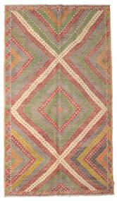 Kelim Halbantik Türkei Teppich  189X333 Echter Orientalischer Handgewebter Dunkelrot/Hellgrau (Wolle, Türkei)