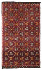 Kelim Halbantik Türkei Teppich  180X311 Echter Orientalischer Handgewebter Dunkelrot/Dunkelbraun (Wolle, Türkei)