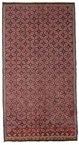 Kelim Halbantik Türkei Teppich  178X335 Echter Orientalischer Handgewebter Dunkelrot/Rosa (Wolle, Türkei)