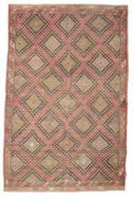 Kelim Halbantik Türkei Teppich  191X293 Echter Orientalischer Handgewebter Hellbraun/Braun (Wolle, Türkei)