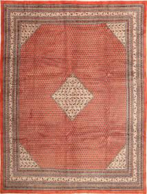 Sarough Mir Teppich  292X390 Echter Orientalischer Handgeknüpfter Dunkelrot/Rost/Rot Großer (Wolle, Persien/Iran)