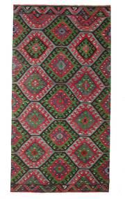 Kelim Halbantik Türkei Teppich 174X327 Echter Orientalischer Handgewebter Dunkelbraun/Schwartz (Wolle, Türkei)