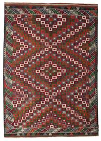 Kelim Halbantik Türkei Teppich  202X290 Echter Orientalischer Handgewebter Dunkelrot/Dunkelbraun (Wolle, Türkei)