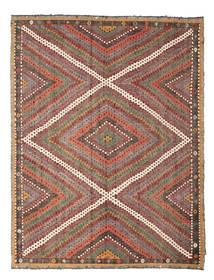 Kelim Halbantik Türkei Teppich 210X271 Echter Orientalischer Handgewebter Hellbraun/Dunkelrot (Wolle, Türkei)