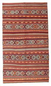 Kelim Halbantik Türkei Teppich  187X321 Echter Orientalischer Handgewebter Dunkelrot/Braun (Wolle, Türkei)