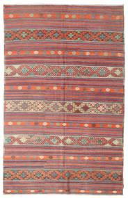 Kelim Halbantik Türkei Teppich  195X306 Echter Orientalischer Handgewebter Helllila/Beige (Wolle, Türkei)