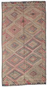 Kelim Halbantik Türkei Teppich  178X335 Echter Orientalischer Handgewebter Hellgrau/Braun (Wolle, Türkei)