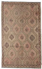 Kelim Halbantik Türkei Teppich  185X302 Echter Orientalischer Handgewebter Braun/Hellgrau (Wolle, Türkei)