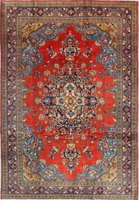 Wiss Teppich 205X312 Echter Orientalischer Handgeknüpfter Dunkelrot/Rost/Rot (Wolle, Persien/Iran)