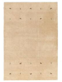 Gabbeh Loom Two Lines - Beige Teppich  140X200 Moderner Dunkel Beige (Wolle, Indien)