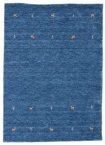 Gabbeh Loom Two Lines - Blau Teppich 140X200 Moderner Dunkelblau/Blau (Wolle, Indien)