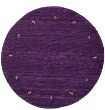 Gabbeh Loom Two Lines - Lila Teppich Ø 150 Moderner Rund Dunkellila (Wolle, Indien)