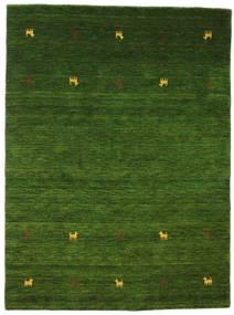 Gabbeh Loom Two Lines - Grün Teppich  140X200 Moderner Dunkelgrün (Wolle, Indien)