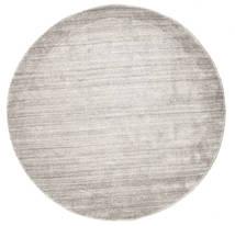 Bambus Seide Loom - Warm Grau Teppich  Ø 150 Moderner Rund Hellgrau ( Indien)