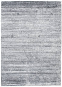 Bambus Seide Loom - Denim Blau Teppich 140X200 Moderner Hellblau/Hellgrau (Wolle/Bambus-Seide, Indien)