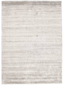 Bambus Seide Loom - Warm Grau Teppich  140X200 Moderner Hellgrau ( Indien)