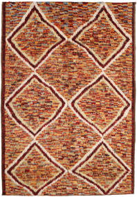 Barchi/Moroccan Berber Teppich 197X292 Echter Moderner Handgeknüpfter Dunkelrot/Rot (Wolle, Afghanistan)