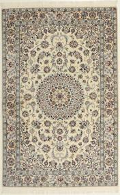 Nain 6La Teppich  118X182 Echter Orientalischer Handgeknüpfter Hellgrau/Beige (Wolle/Seide, Persien/Iran)