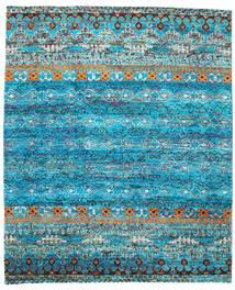 Quito - Türkis Teppich  240X290 Echter Moderner Handgeknüpfter Türkisblau/Blau (Seide, Indien)