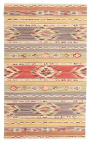 Kelim Nimrud Teppich  100X160 Echter Moderner Handgewebter Dunkel Beige/Beige (Wolle, Indien)