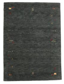 Gabbeh Loom Frame - Dunkelgrau/Grün Teppich  140X200 Moderner Dunkelgrün/Dunkelgrün (Wolle, Indien)