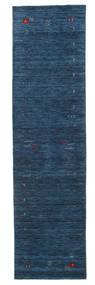 Gabbeh Loom Frame - Dunkelblau Teppich 80X300 Moderner Läufer Dunkelblau (Wolle, Indien)