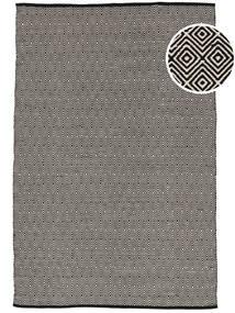 Diamond - Schwarz Teppich  160X230 Echter Moderner Handgewebter Hellgrau/Dunkelgrau (Baumwolle, Indien)