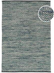Hugo - Petrol Teppich  160X230 Echter Moderner Handgewebter Schwartz/Hellgrau ( Indien)