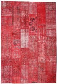 Patchwork Teppich  201X296 Echter Moderner Handgeknüpfter Rot/Rost/Rot (Wolle, Türkei)