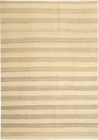 Kelim Modern Teppich  204X305 Echter Moderner Handgewebter Beige/Gelb (Wolle, Persien/Iran)